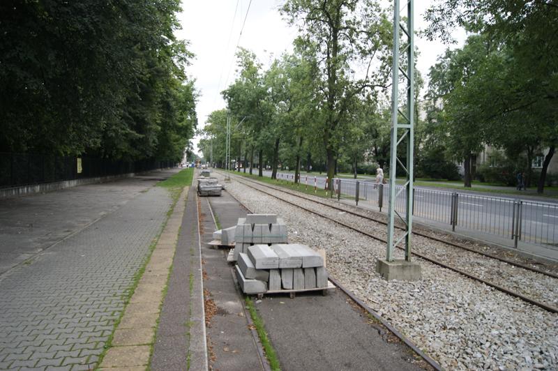Odbudowa trasy tramwajowej naul.Mickiewicza
