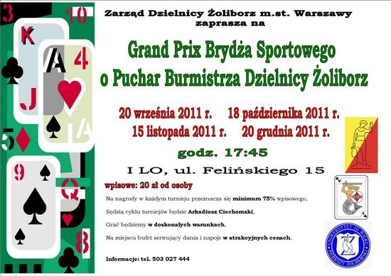 Brydżowe mistrzostwa Żoliborza 2011