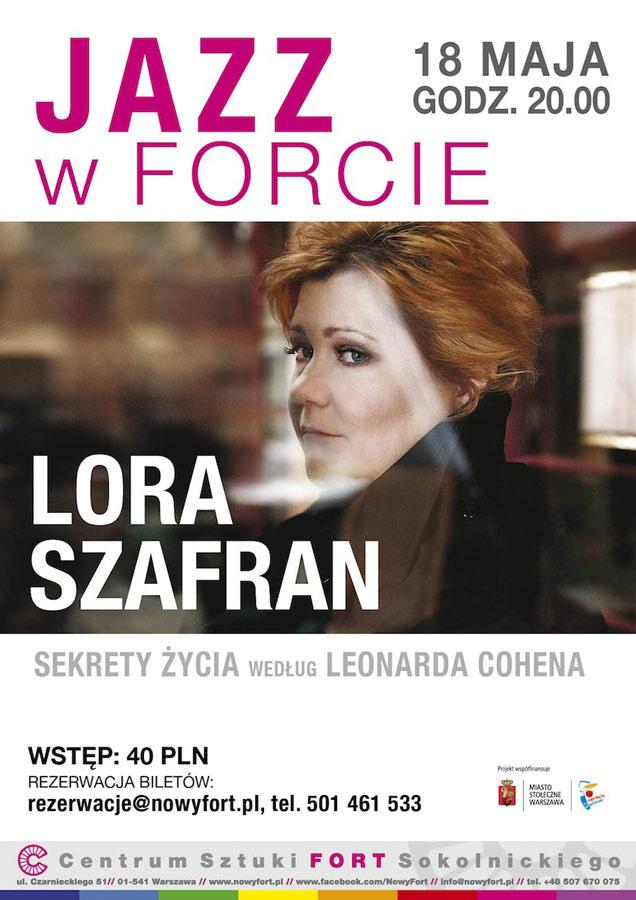 Koncert Lory Szafran Sekrety życia według Leonarda Cohena wCentrum Sztuki Fort Sokolnickiego